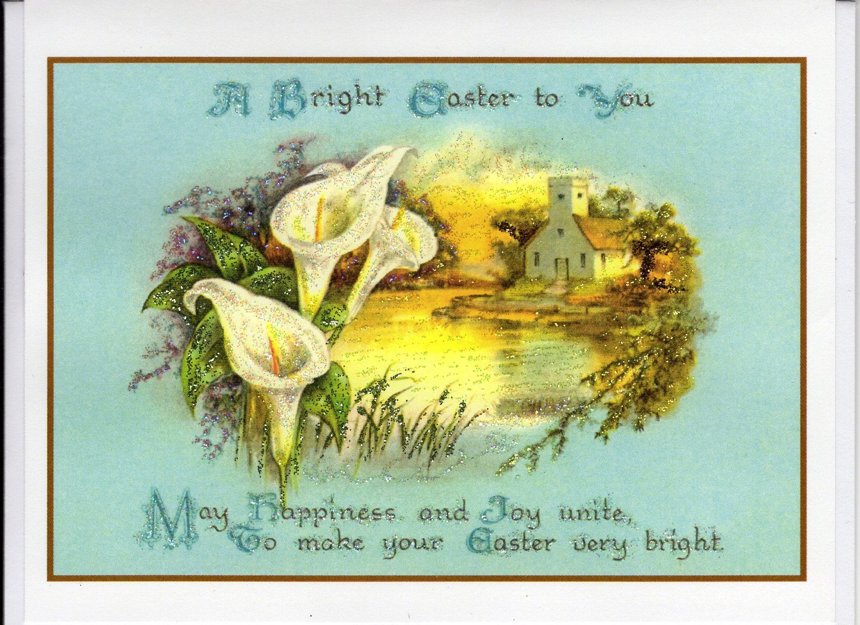 A Bright Easter To You Calla Lilies Scene The Marble Faun Books