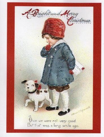 A Bright and Merry Christmas ~Boy & Puppy