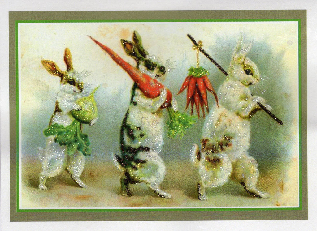 Bunnies on the March Glitter Card