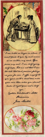 Captain Wentworth's Letter Bookmark