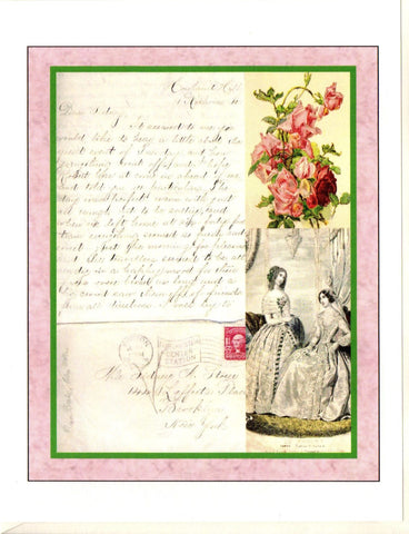 Dear Sidney Letter ~ Fashion Note Card