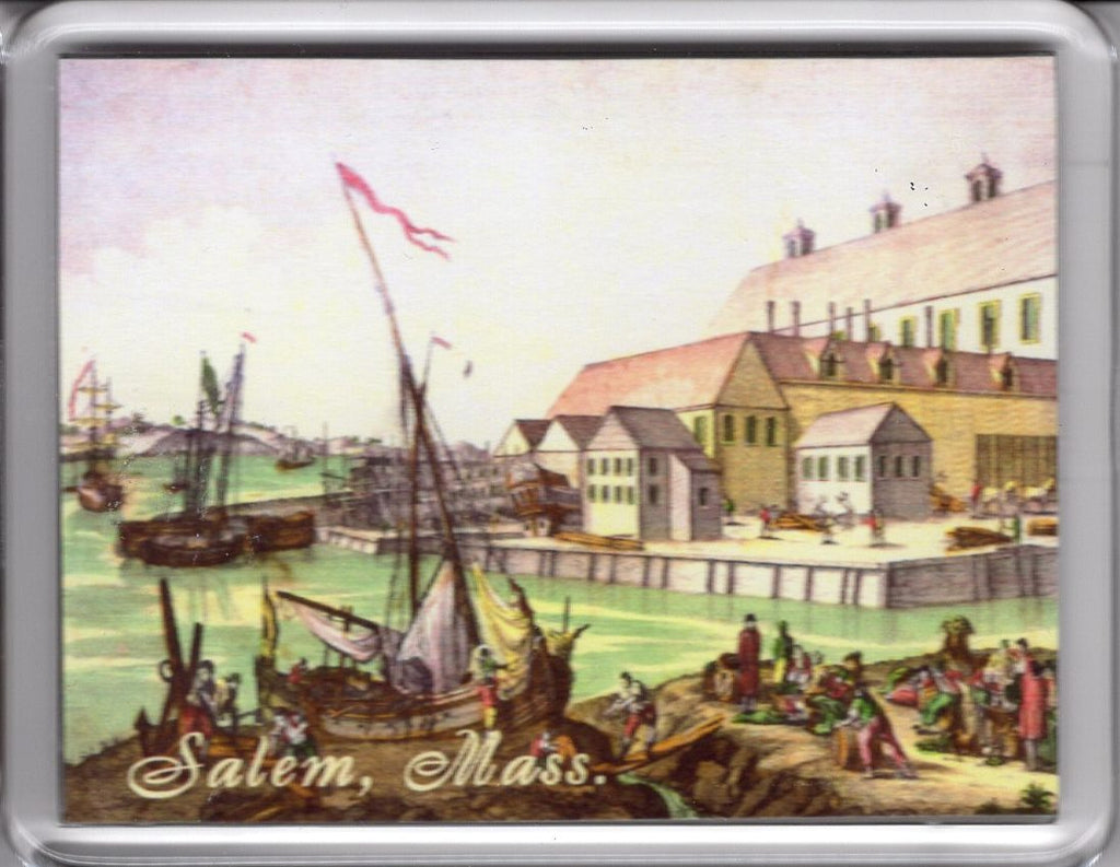 Salem Colonial Shipping 1770s Magnet