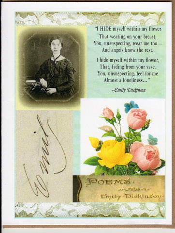 Emily Dickinson Collage Note Card