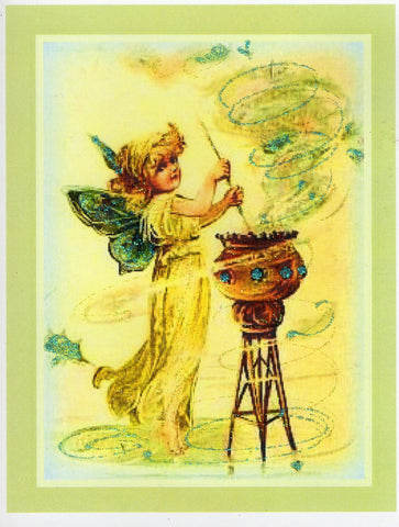 Fairy Mixing Whimsy Glitter Card