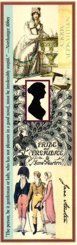 """...Good Novel"" Jane Austen Collage Bookmark"