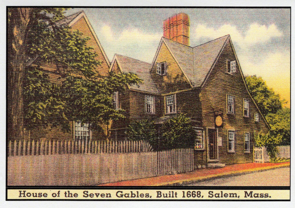 House of the Seven Gables Postcard Note Card