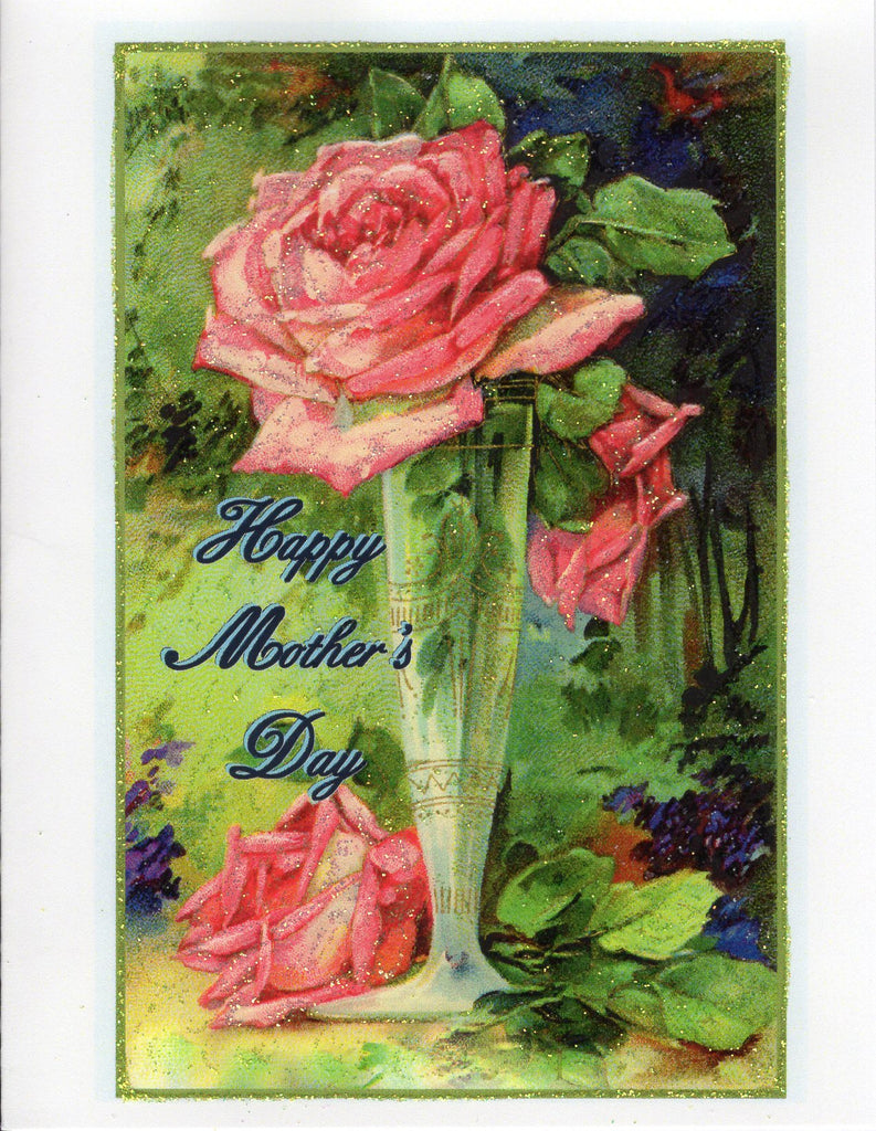 Happy Mother's Day ~ Pink Roses in Vase
