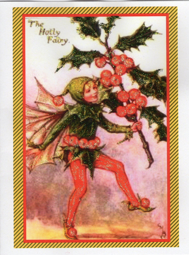 The Holly Fairy Glitter Card