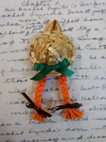 """Anne of Green Gables"" Straw Hat Magnet"