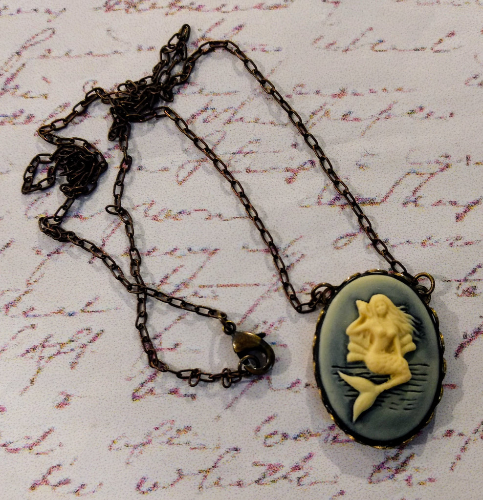 Mermaid Siren Cameo Necklace