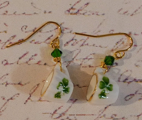 Clover Teacup Earrings