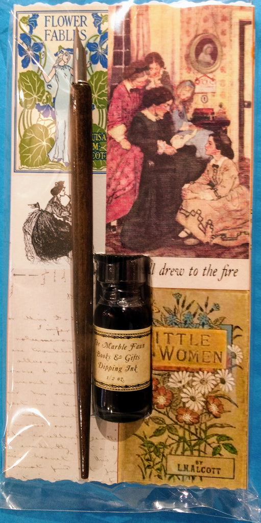Louisa May Alcott Dip Pen & Ink Set