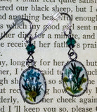 Pressed Flower Resin Drop Earrings