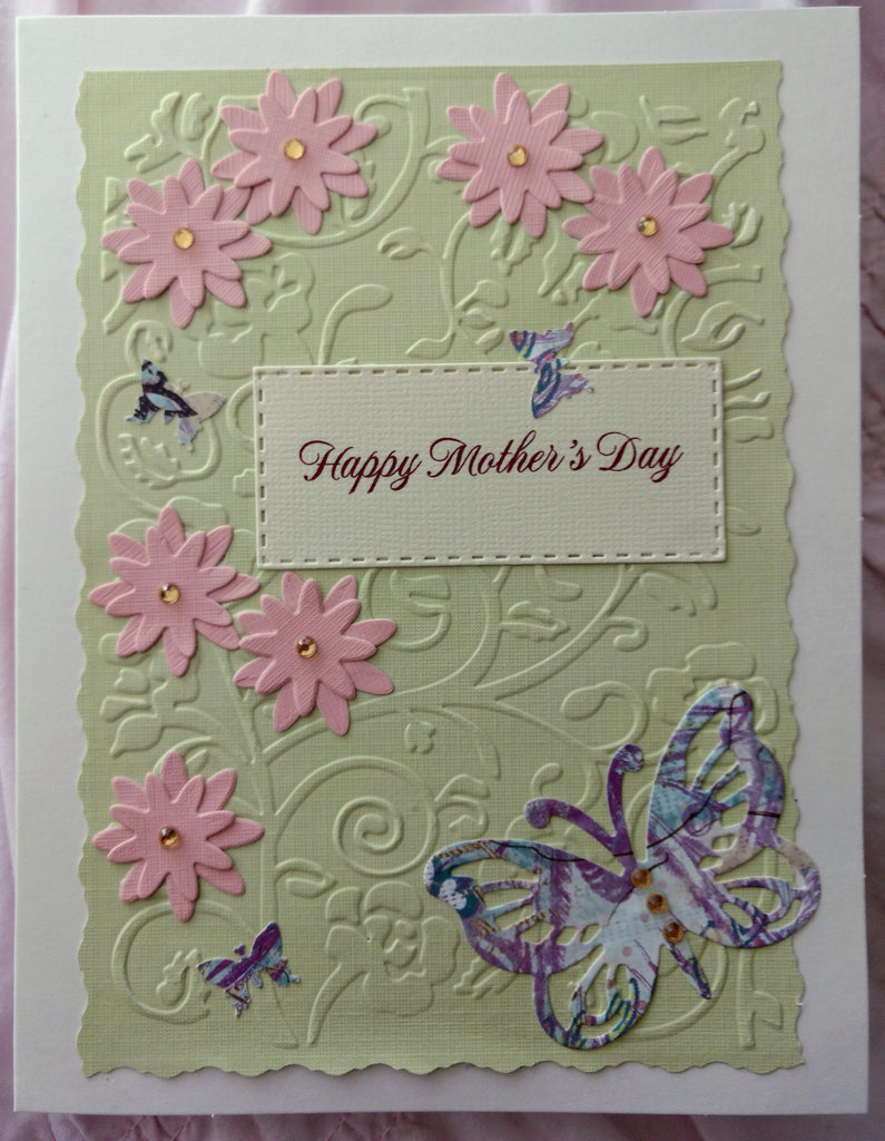 Happy Mother's Day ~ Butterfly Handmade Card