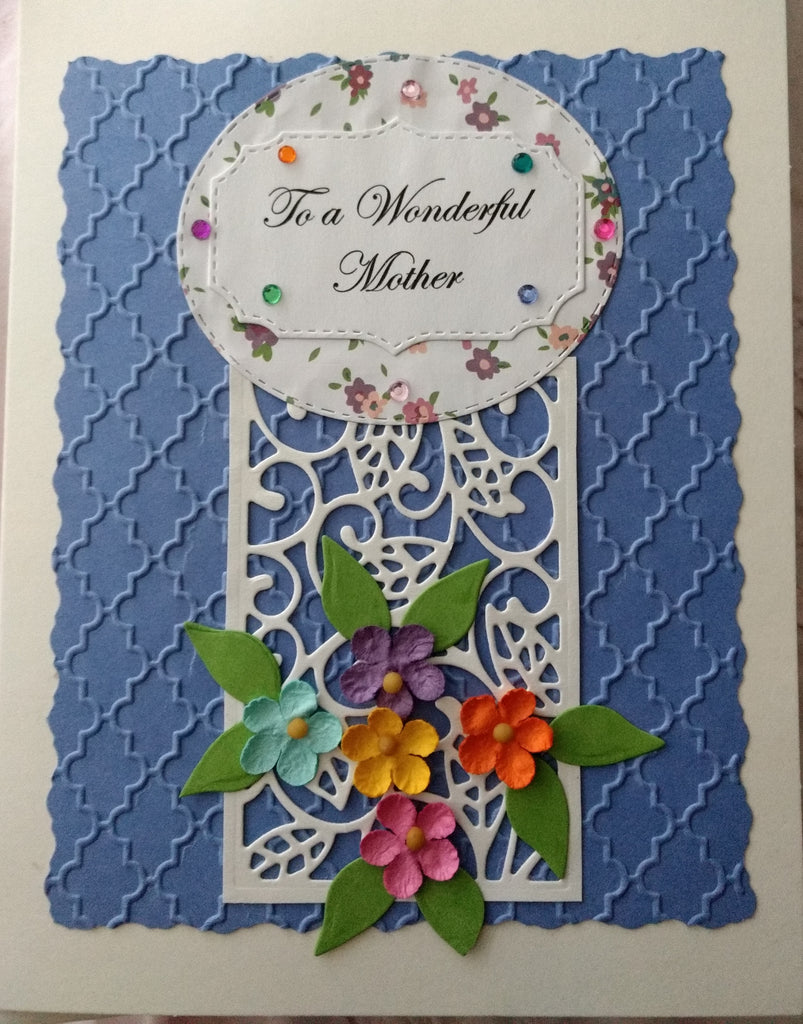To a Wonderful Mother ~ Floral Trellis Handmade Card