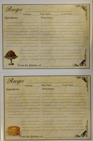 Recipe Cards Package ~ Retro