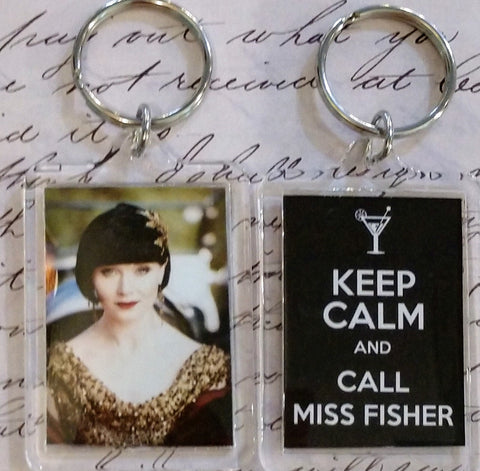 Keep Calm and Call Miss Fisher Keychain