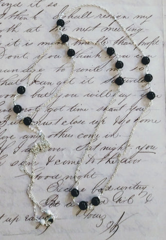 """Lady Mary's"" Black Onyx Necklace"