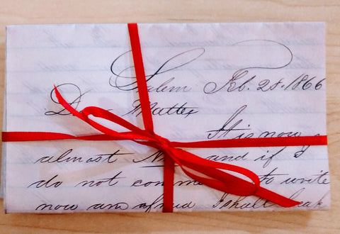 Dear Mattie...Salem Letters ~ Reproduction Set of 3 Letters