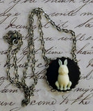 Rabbit Cameo Necklace