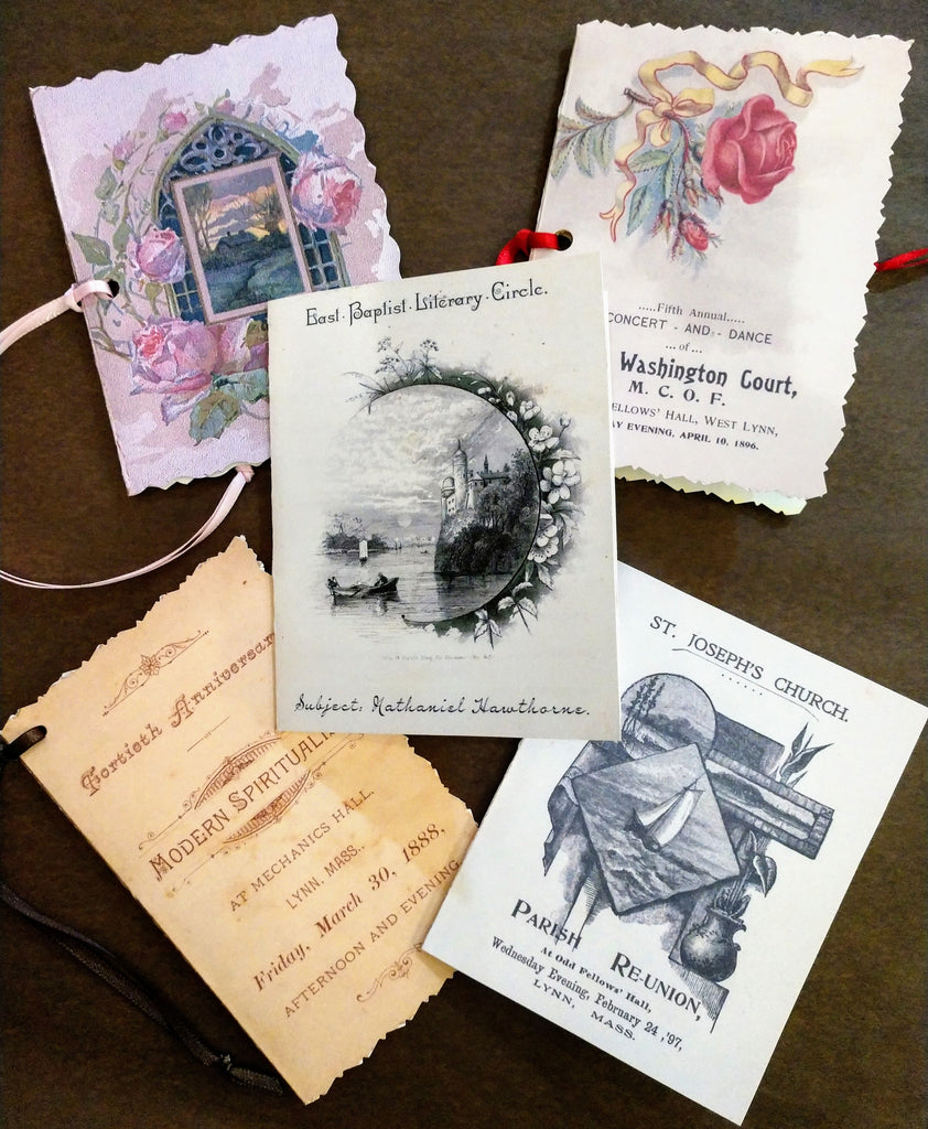 North Shore Dance Cards ~ Reproduction Set of 5 Dance Card Programs