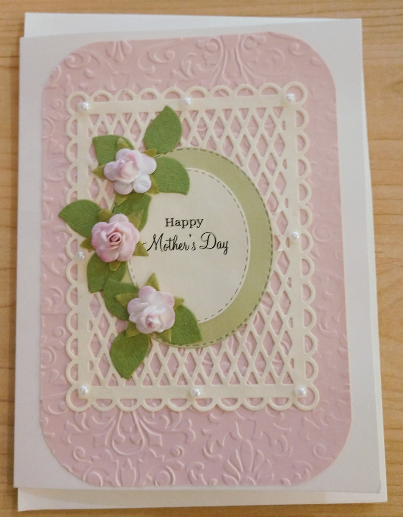 Happy Mother's Day ~ Pink Roses Handmade Card