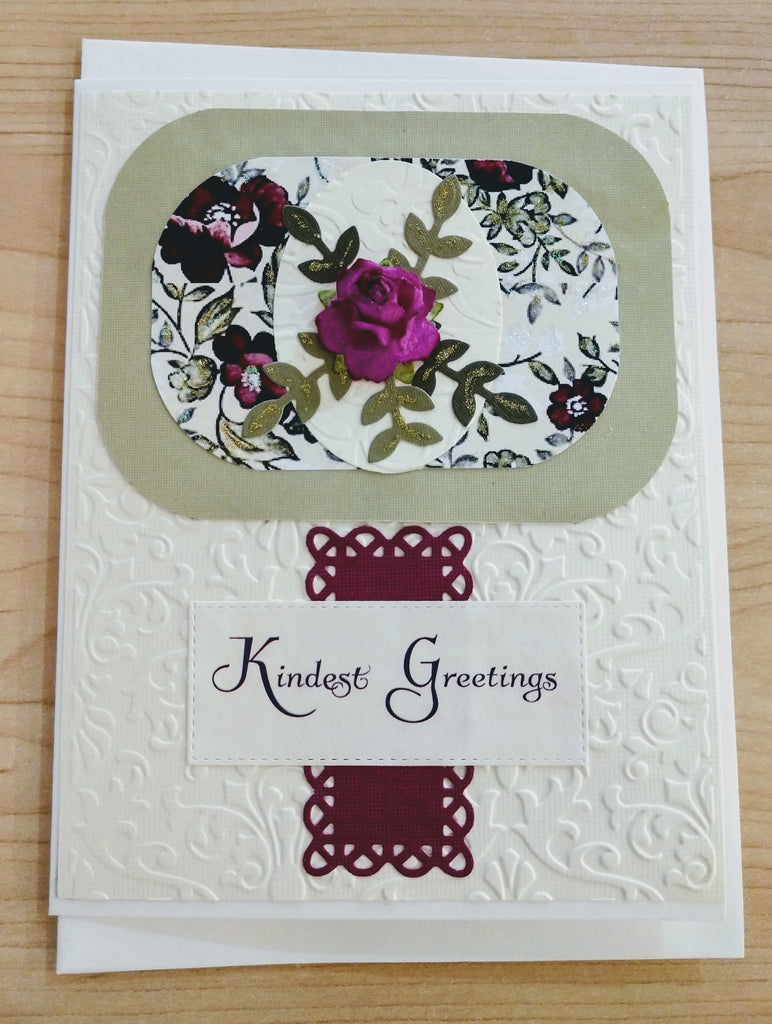 Kindest Greetings ~ Handmade Card