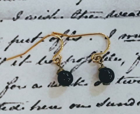 Petite Onyx Drop Earrings