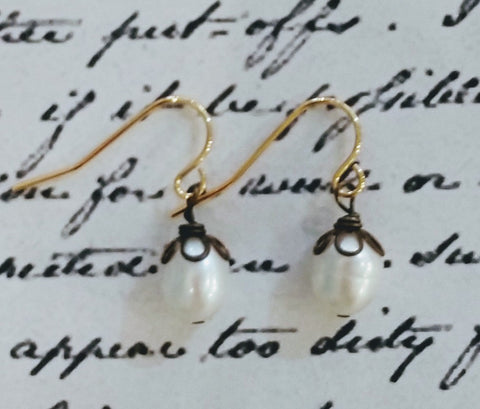 Pearl Bloom Drop Earrings