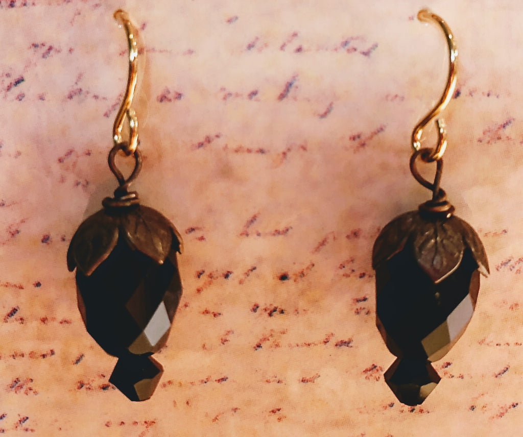 Victorian Crystal Balloon Drop Earrings