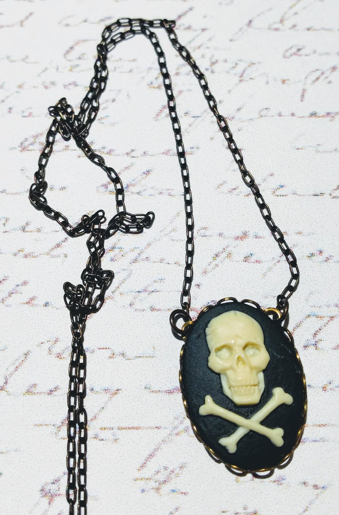 Large Skull Cameo Necklace