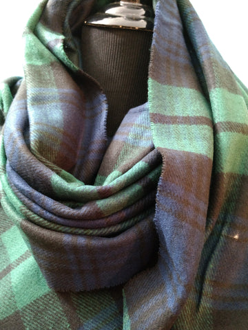 Black Watch Tartan Scarf Shawl