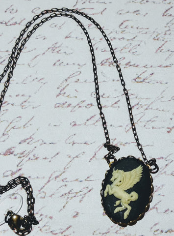Pegasus Cameo Necklace