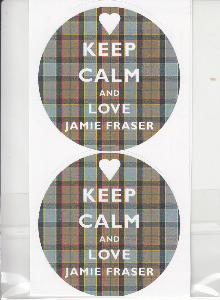 Keep Calm & Love Jamie Fraser Sticker Pack