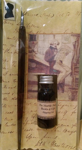 Nathaniel Hawthorne Dip Pen & Ink Set