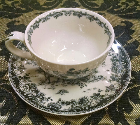 Black & White Cup and Saucer