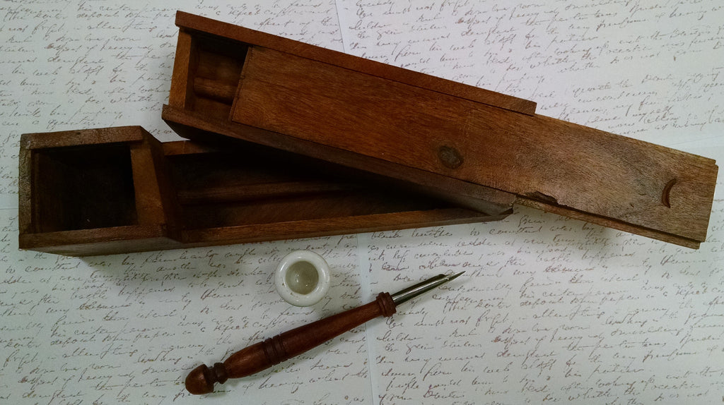 Portable Wood Writing Box