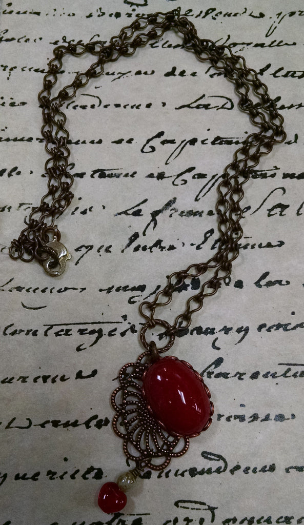 Red Jasper Lace Necklace
