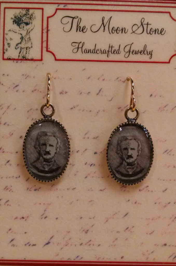 Poe Resin Brass Earrings