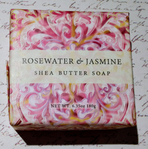 Rosewater & Jasmine Square Wrapped Shea Butter Soap