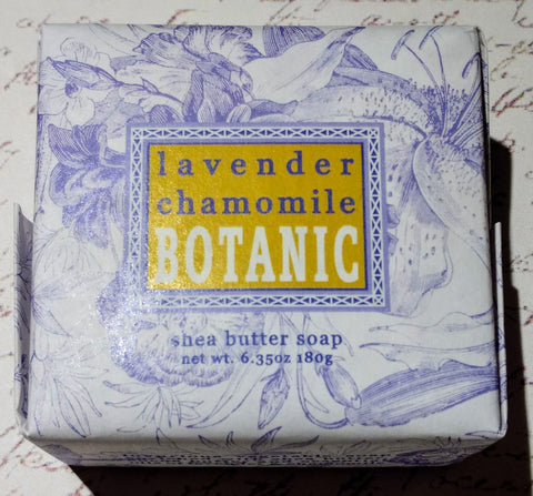 Lavender Chamomile Square Wrapped Shea Butter Soap