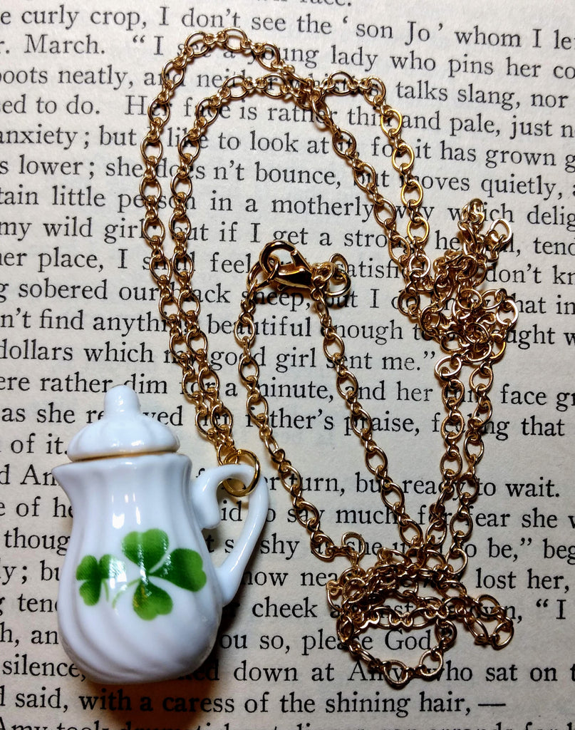 Clover Teapot Necklace