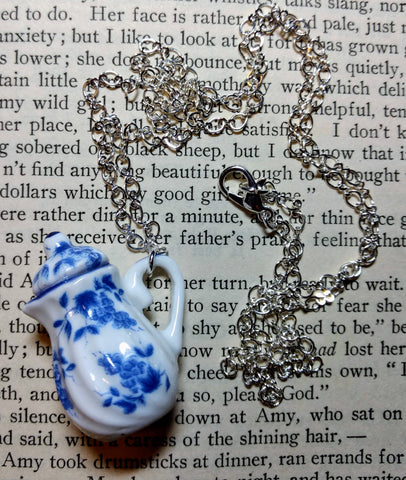 Blue & White Teapot Necklace