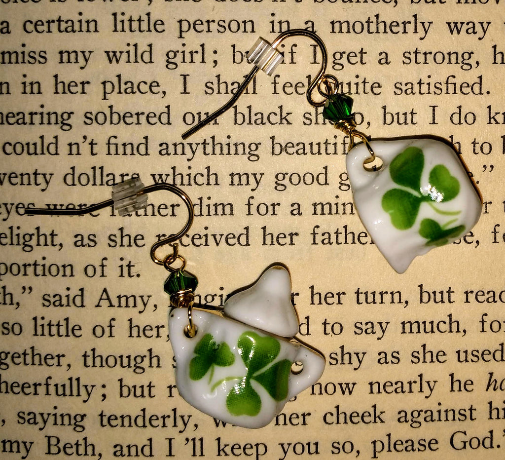 Clover Sugar Bowl & Creamer Earrings