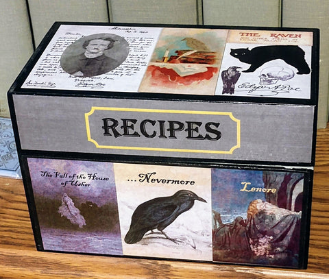 Edgar Allan Poe Recipe Box