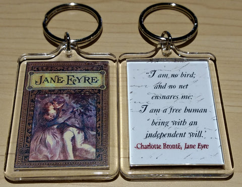Jane Eyre ~ I AM NO BIRD ~ Keychain