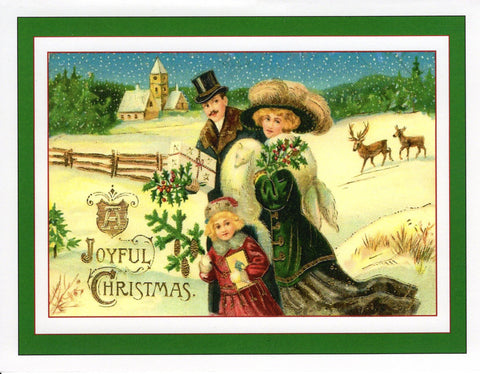 A Joyful Christmas...Edwardian Family Scene Card