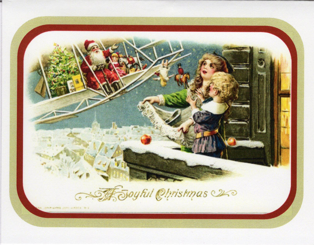 A Joyful Christmas...Santa on an Aeroplane Card