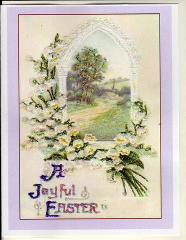 A Joyful Easter ~ Lilies of the Valley Scene