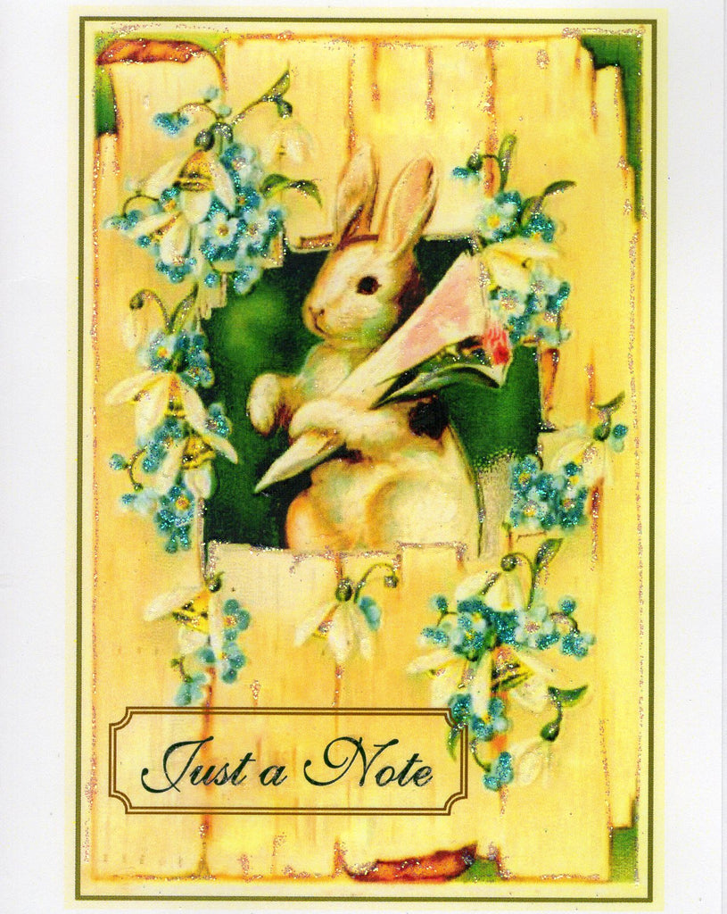 Just a Note Bunny Glitter Card